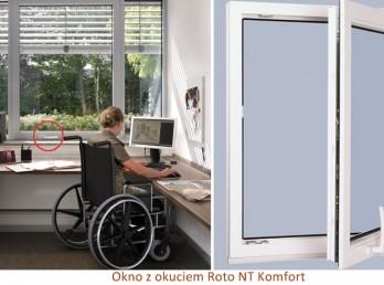 Okno z okuciem Roto NT Komfort