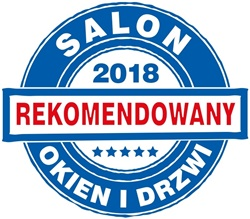 Pieczęć Rekomendowany Salony Okien i Drzwi.