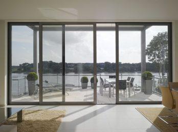 DEU, Deutschland, NRW, DŸsseldorf; Wohnen am Rhein, Haus B.Fertigstellung 2007;