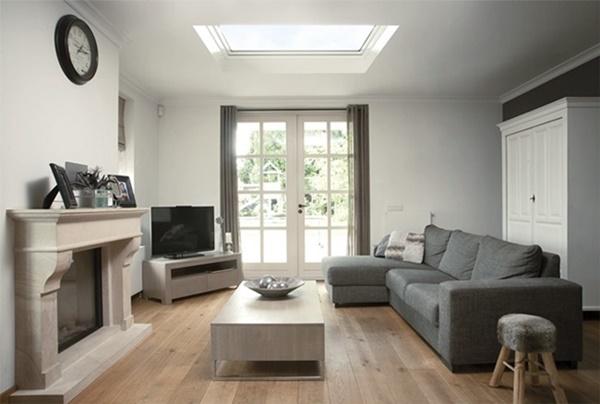 Zdjęcie 6 W ofercie FAKRO znajdują się również produkty dzięki którym dostarczymy odpowiednia ilość naturalnego światła do salonu pod płaskim dachem.