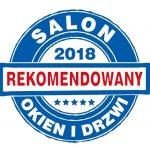 Tytuł Rekomendowany Salon Okien i Drzwi przyznany firmie INTERMO przez niezależną Kapitułę