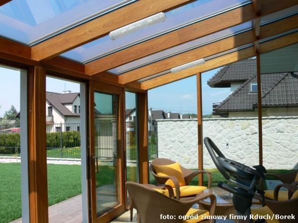 Ogród zimowy, szklany dach, ogrzewanie