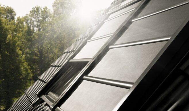 Solarna markiza zaciemniająca do okien dachowych