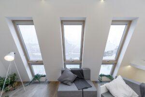 Apartamenty w Moskie z oknami dachowymi Fakro