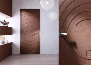 Drzwi drewniane dębowe - nowoczeny wzór