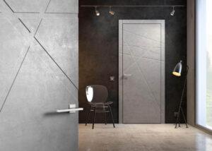 nowoczense dzrwi wenętrzne w kolorze betonu